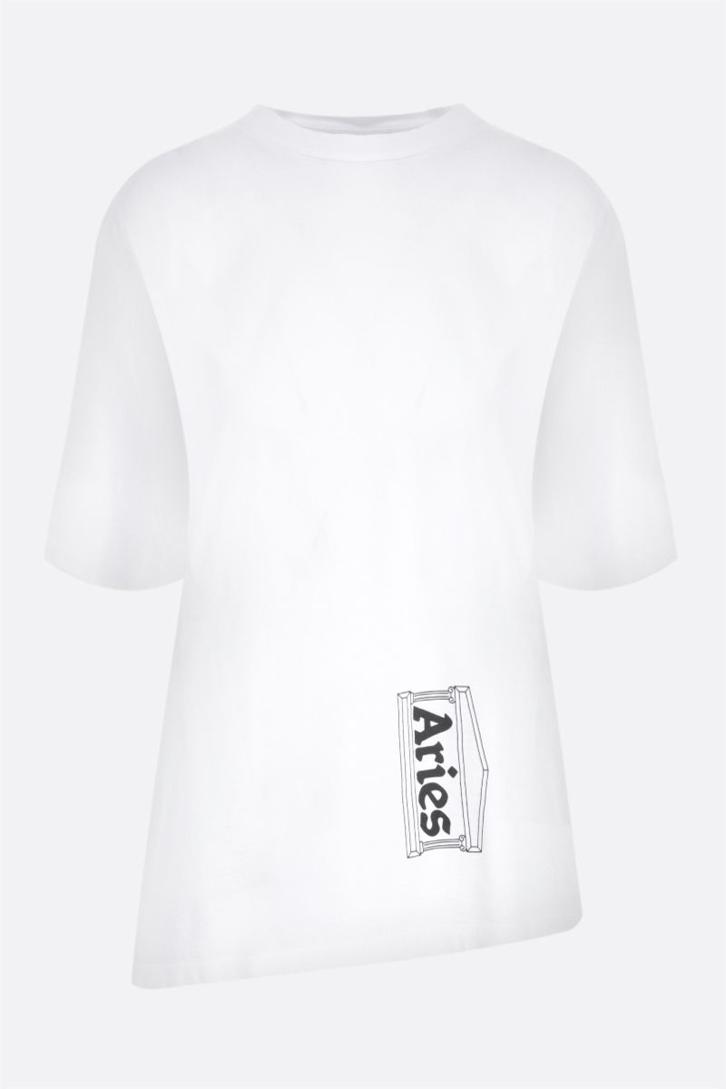 ARIES: t-shirt Premium Side Hole in cotone Colore White_1