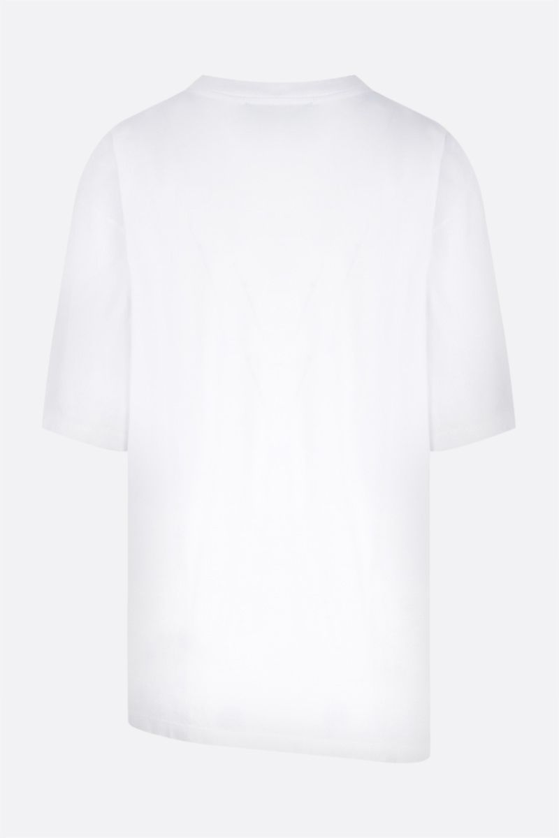 ARIES: t-shirt Premium Side Hole in cotone Colore White_2