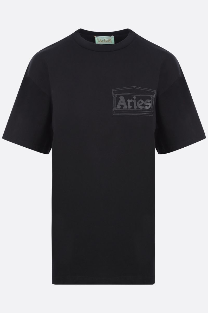 ARIES: t-shirt Temple in cotone Colore Black_1