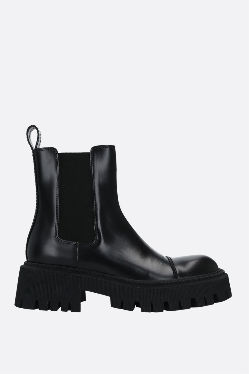 BALENCIAGA: Tractor smooth leather chelsea boots Color Black_1