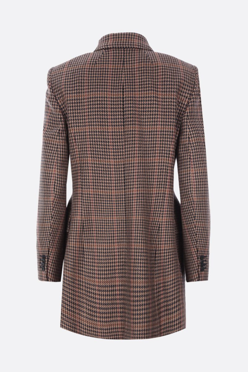 BALENCIAGA: houndstooth wool blend hourglass double-breasted jacket Color Multicolor_2