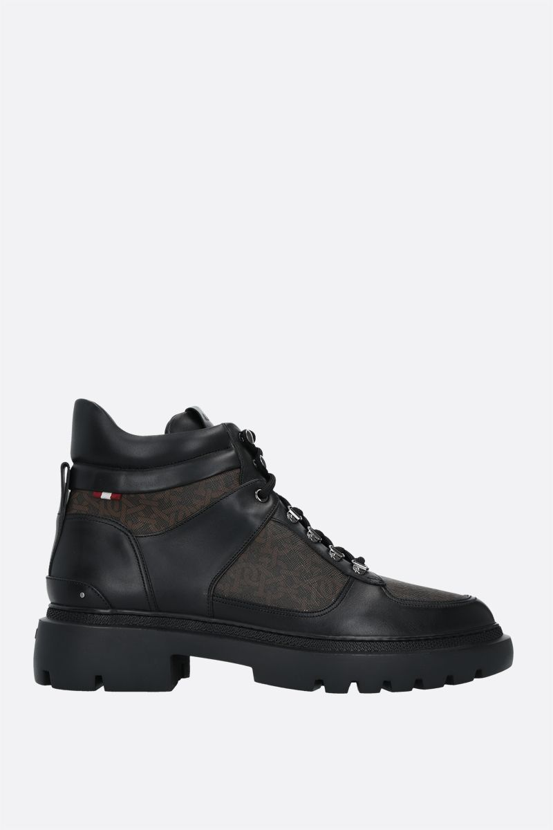 BALLY: Valensy TPU and smooth leather combat boots Color Black_1