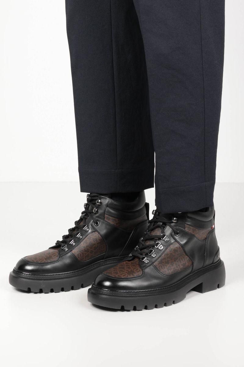 BALLY: Valensy TPU and smooth leather combat boots Color Black_2