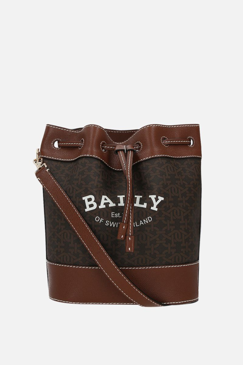 BALLY: Cleoh TPU and grainy leather bucket bag Color Multicolor_1