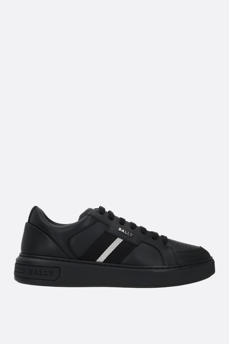BALLY: Moony smooth leather sneakers Color Black_1