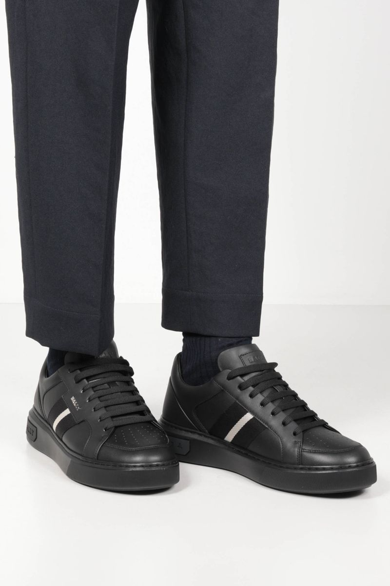 BALLY: Moony smooth leather sneakers Color Black_2