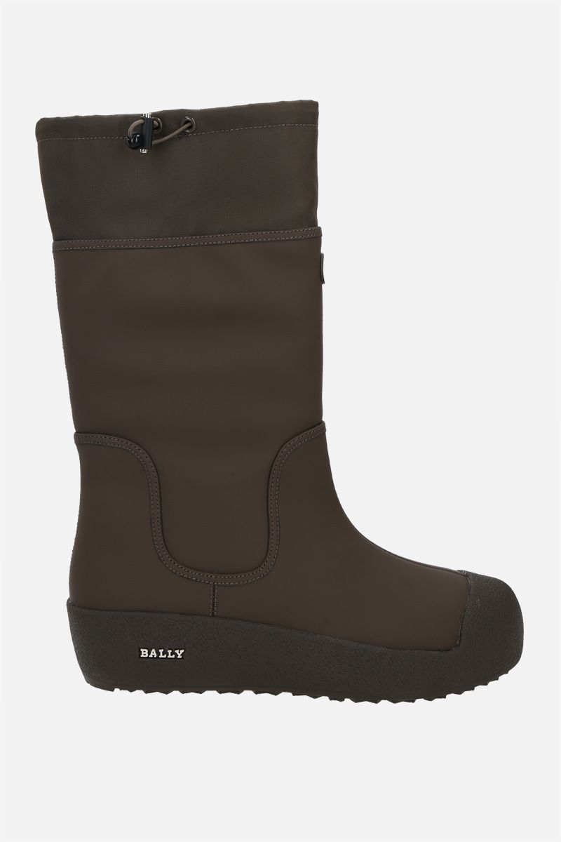 BALLY: Calisse rubber-coated leather boots Color Green_1