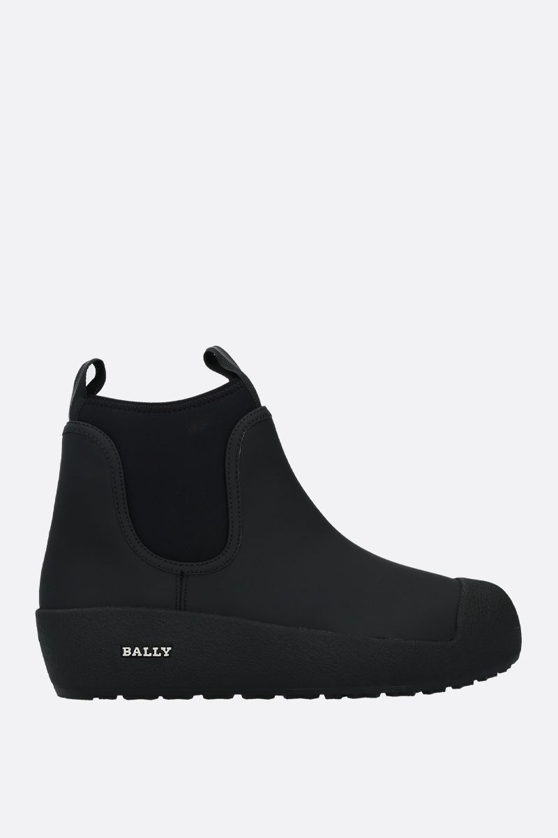 BALLY: Gadey rubber-coated leather ankle boots Color Black_1
