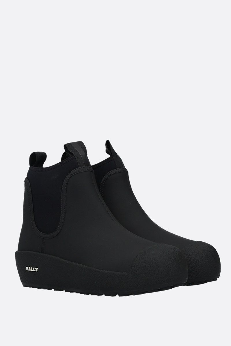 BALLY: Gadey rubber-coated leather ankle boots Color Black_2