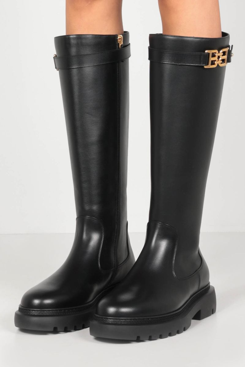 BALLY: Gaila smooth leather boots Color Black_2