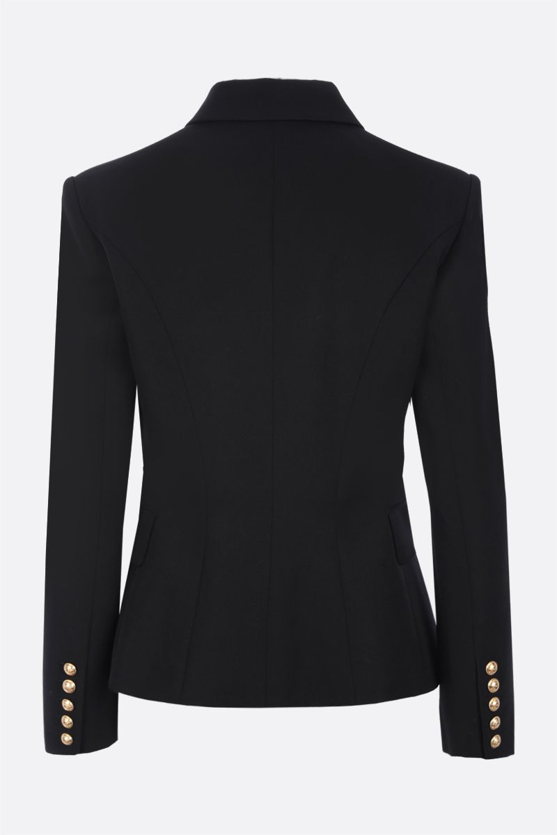 BALMAIN: double-breasted wool jacket Color Black_2