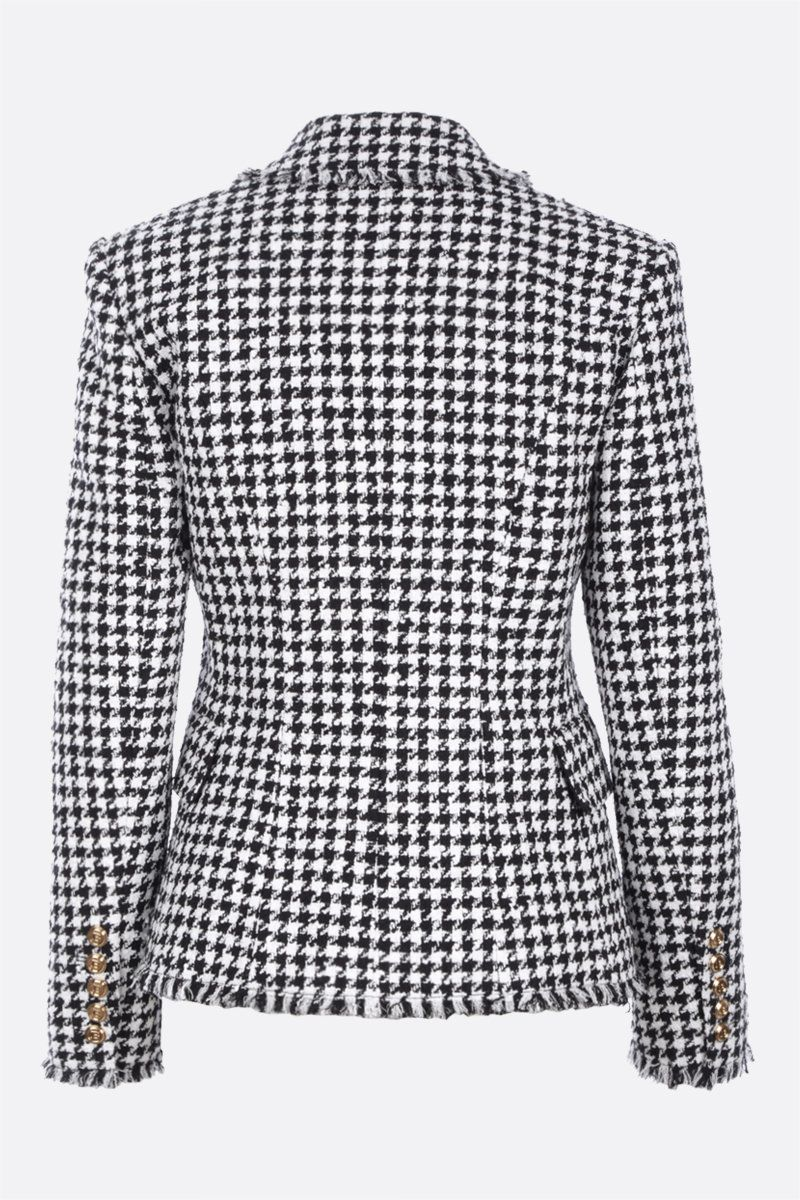 BALMAIN: double-breasted tweed jacket Color White_2