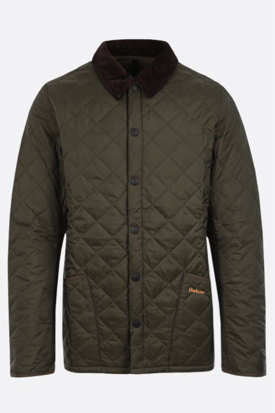 BARBOUR: Heritage Liddesdale quilted nylon jacket Color Green_1