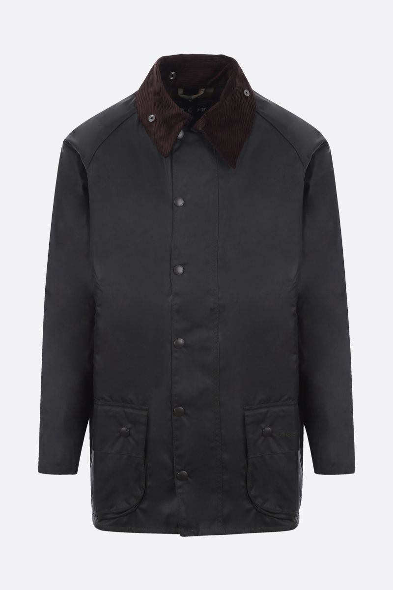 BARBOUR: Beaufort waxed canvas jacket Color Green_1