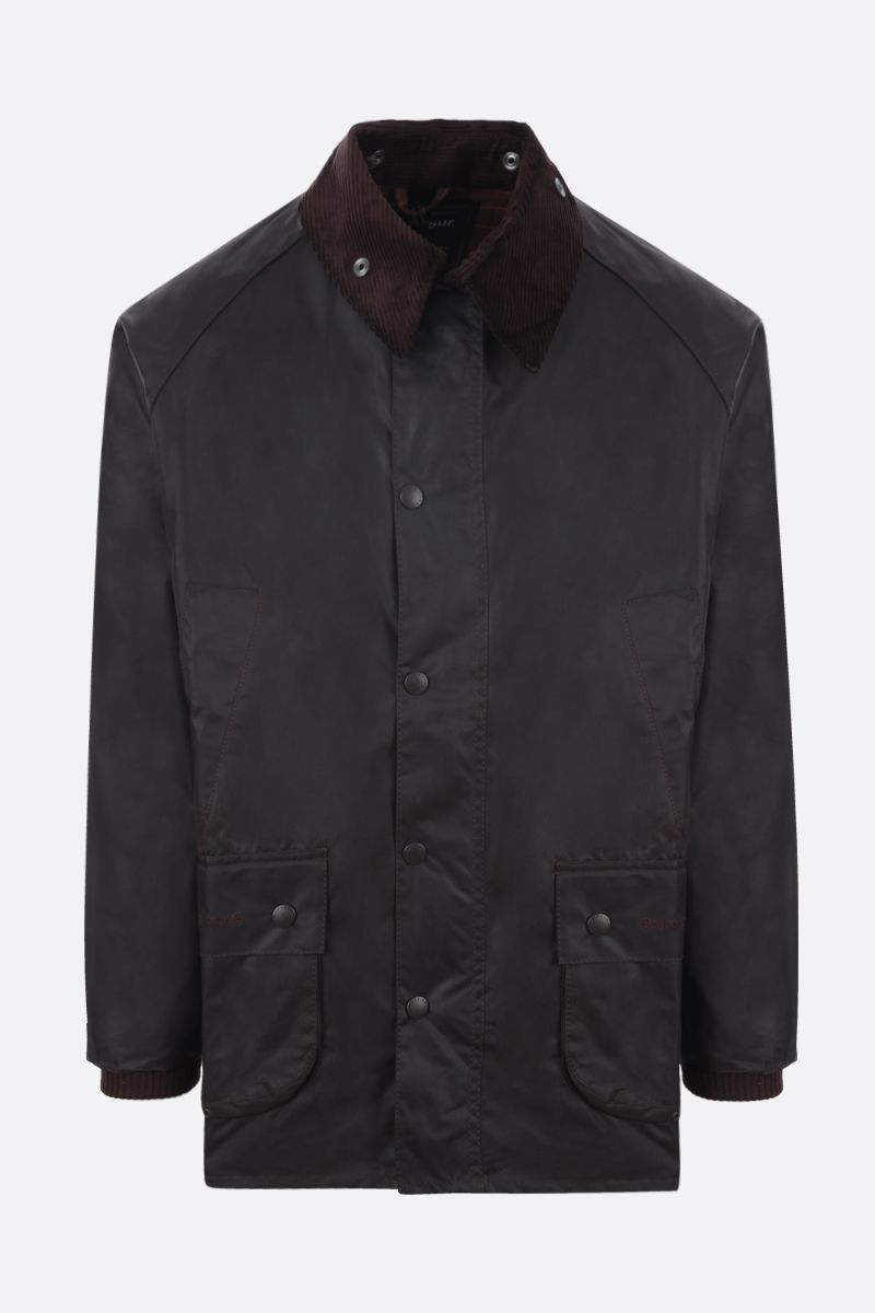 BARBOUR: Bedale waxed canvas jacket Color Brown_1