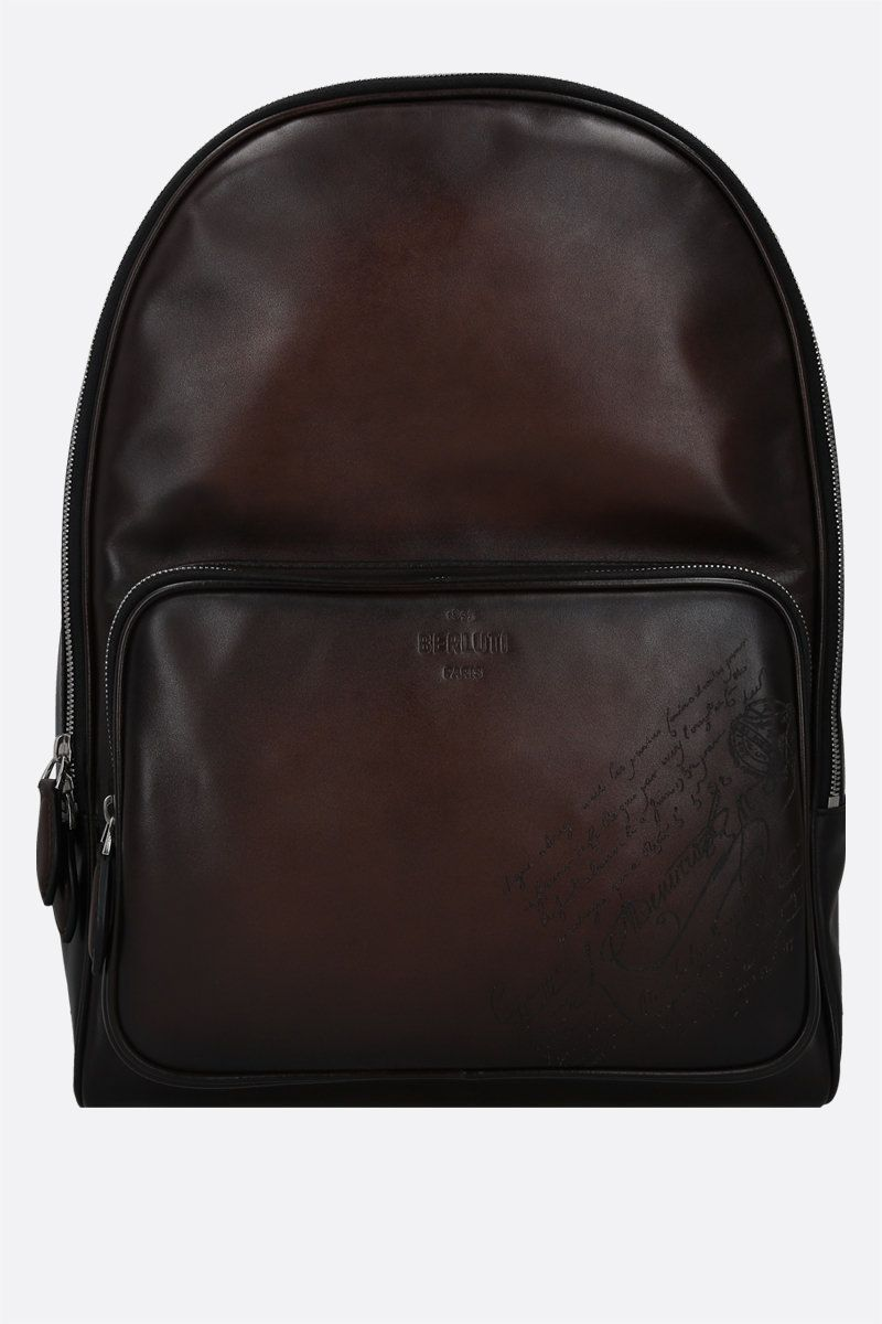BERLUTI: Time-Off backpack in Scritto leather Color Brown_1