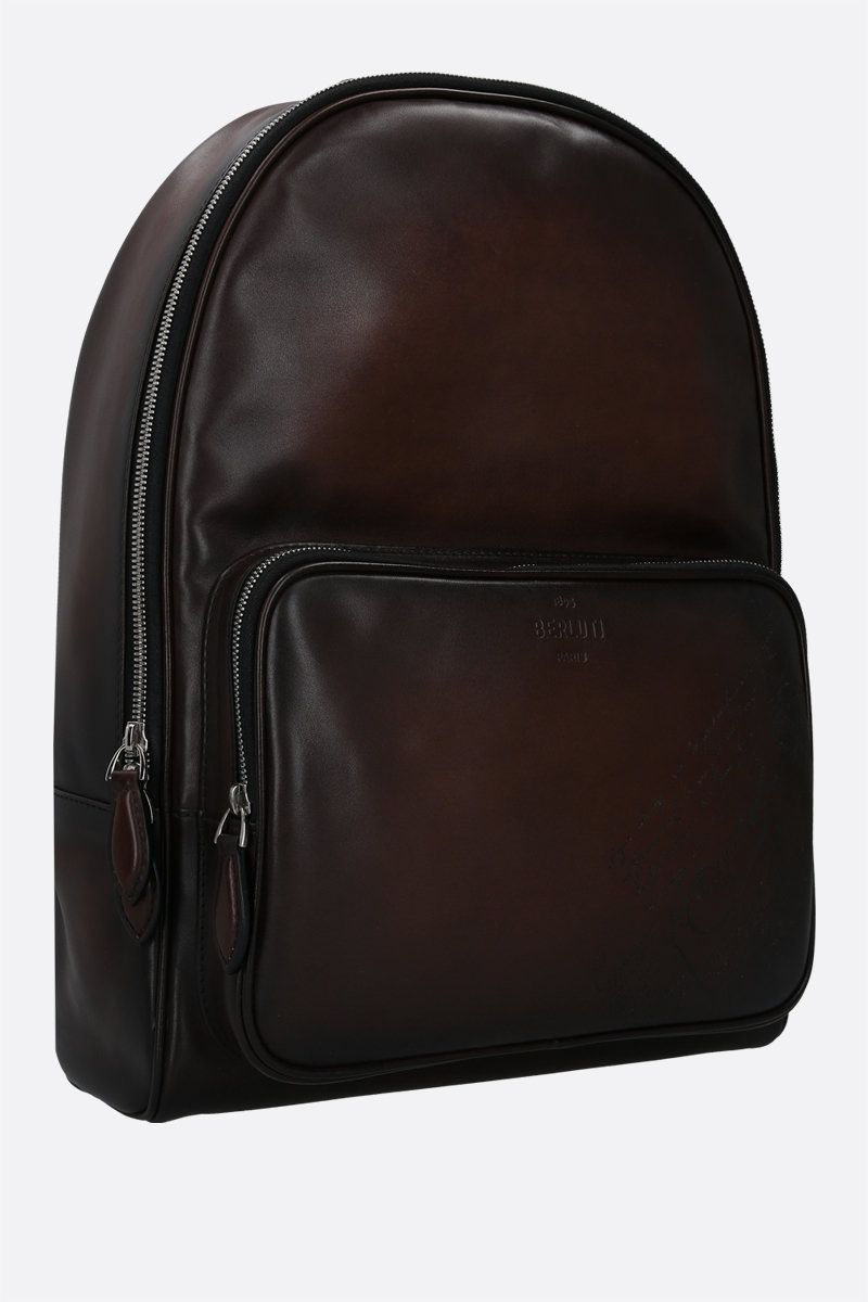 BERLUTI: Time-Off backpack in Scritto leather Color Brown_2