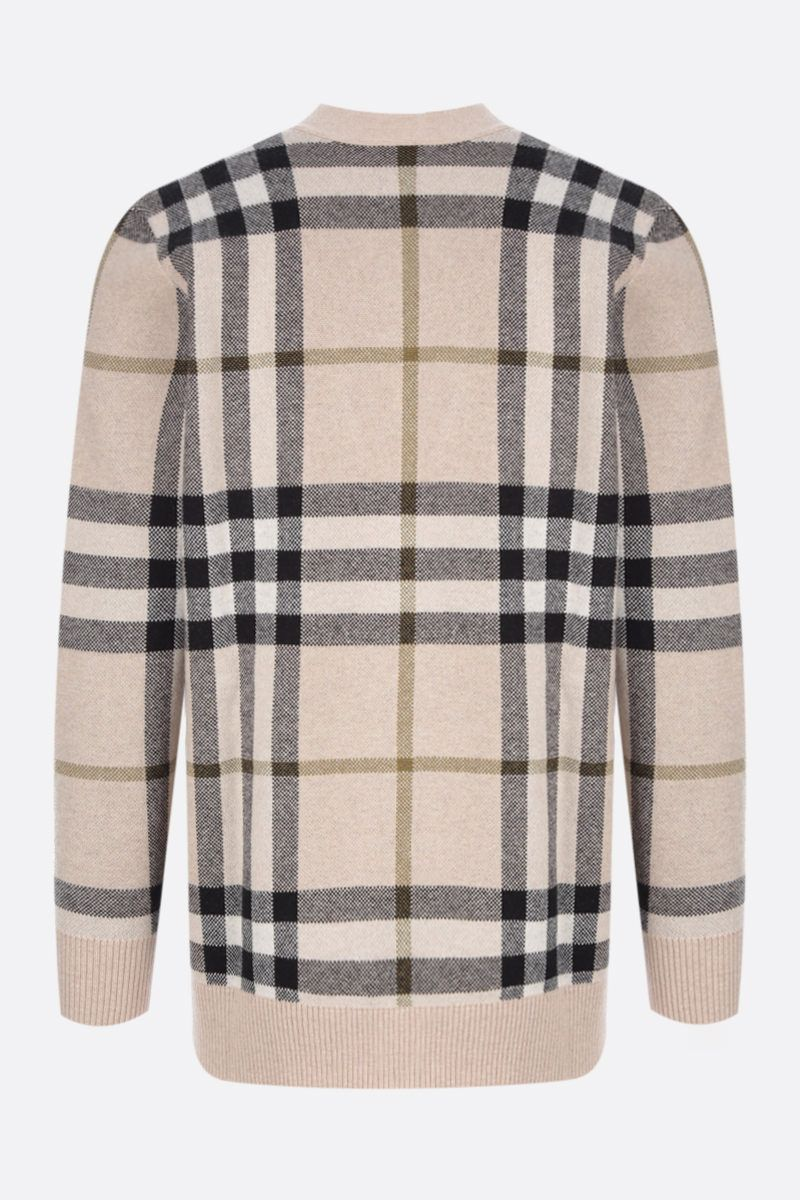 BURBERRY: check wool cashmere blend pullover Color Multicolor_2