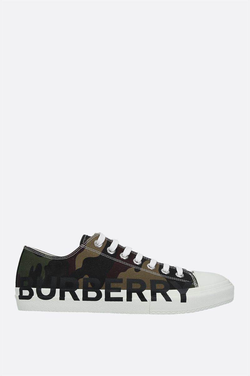 BURBERRY: Larkhall canvas sneakers Color Green_1