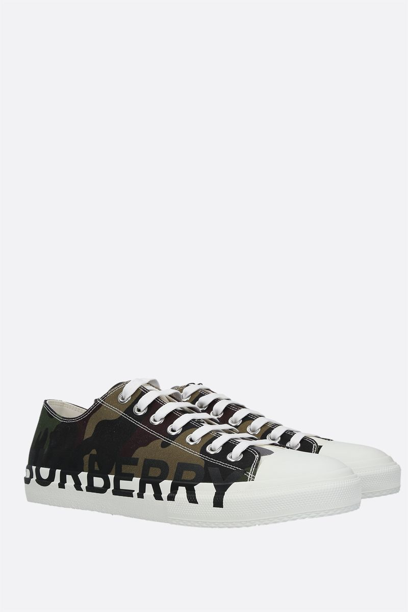 BURBERRY: Larkhall canvas sneakers Color Green_2