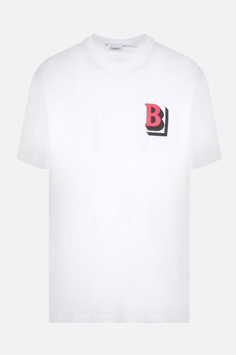 BURBERRY: t-shirt oversize Tucson in cotone Colore Bianco_1