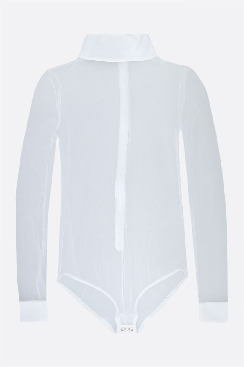 BURBERRY: tulle bodysuit Color White_1