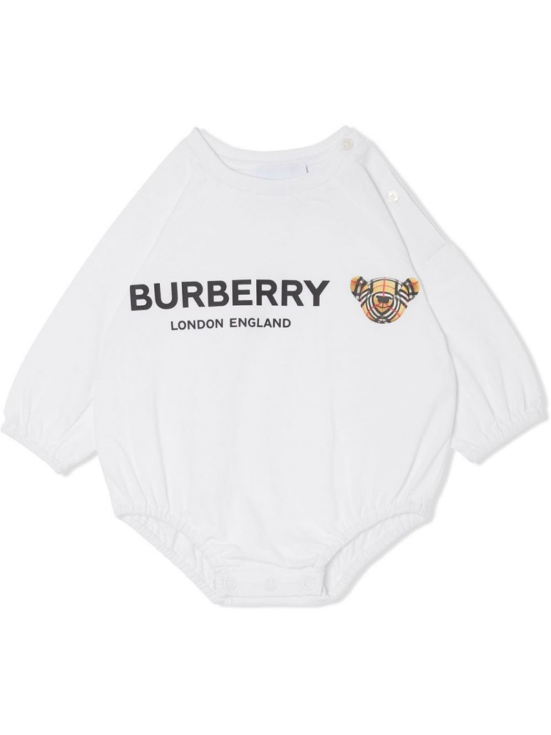 BURBERRY CHILDREN: three-piece gift set in check cotton Color Neutral_2