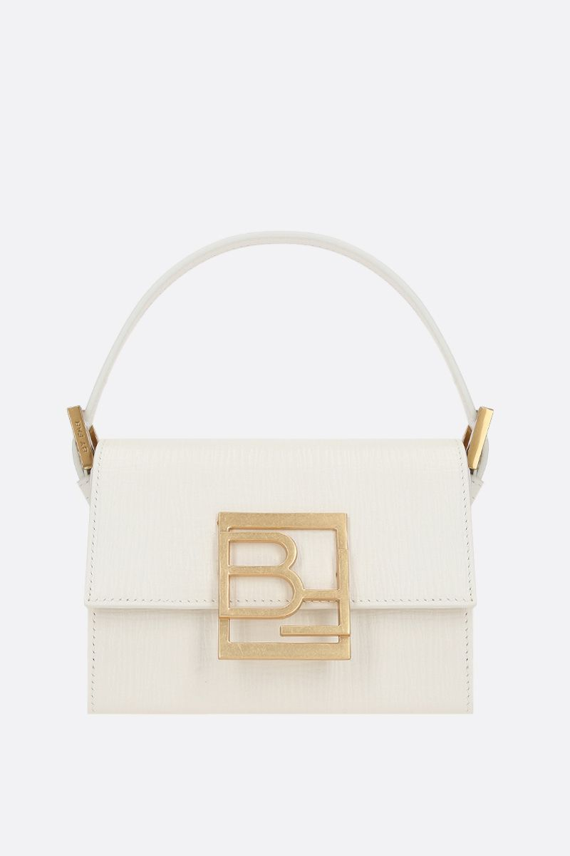 BY FAR: Fran embossed leather handbag Color White_1