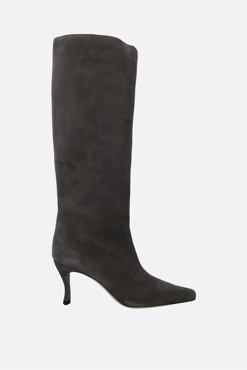 BY FAR: Stevie 42 suede boots Color Grey_1