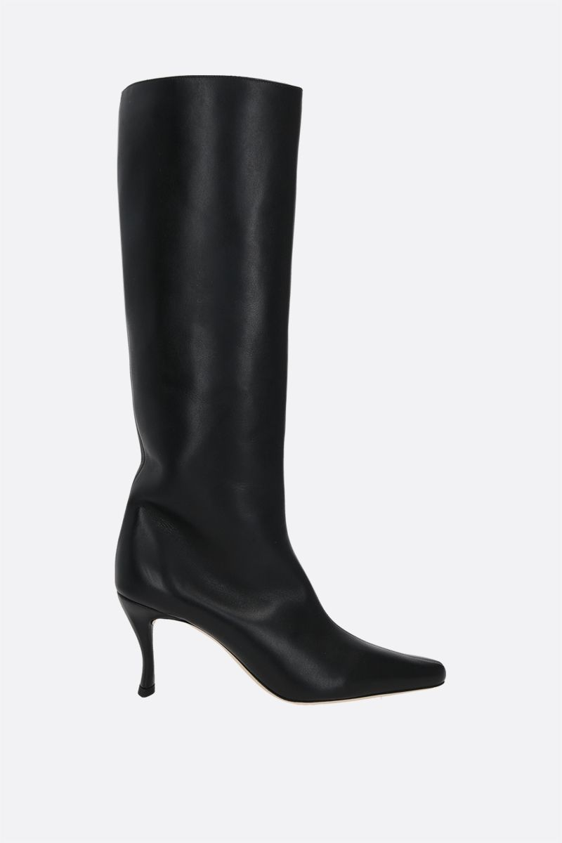 BY FAR: Stevie 42 smooth leather boots Color Black_1