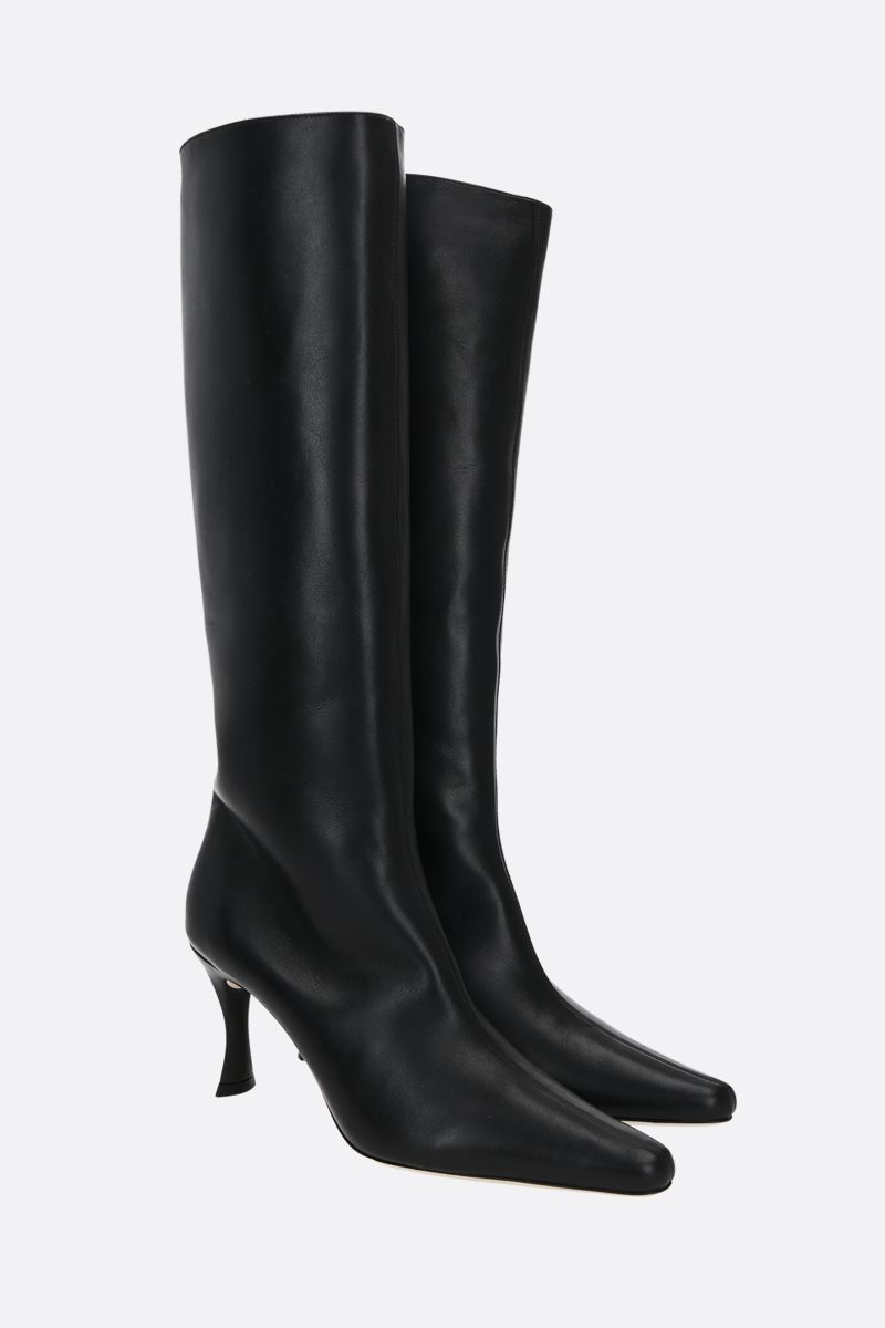 BY FAR: Stevie 42 smooth leather boots Color Black_2
