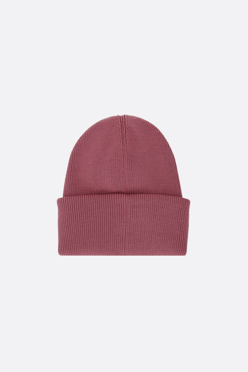 CANADA GOOSE: logo-detailed wool beanie Color Purple_2