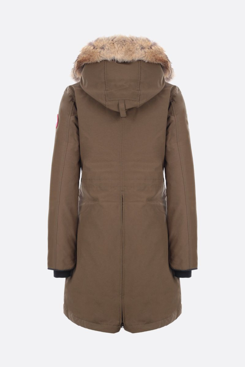 CANADA GOOSE: Rossclair technical fabric down jacket Color Green_2