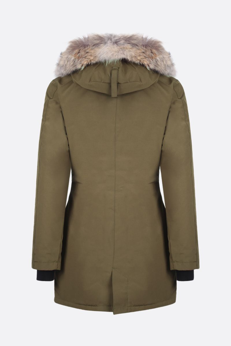 CANADA GOOSE: Victoria technical fabric down jacket Color Green_2