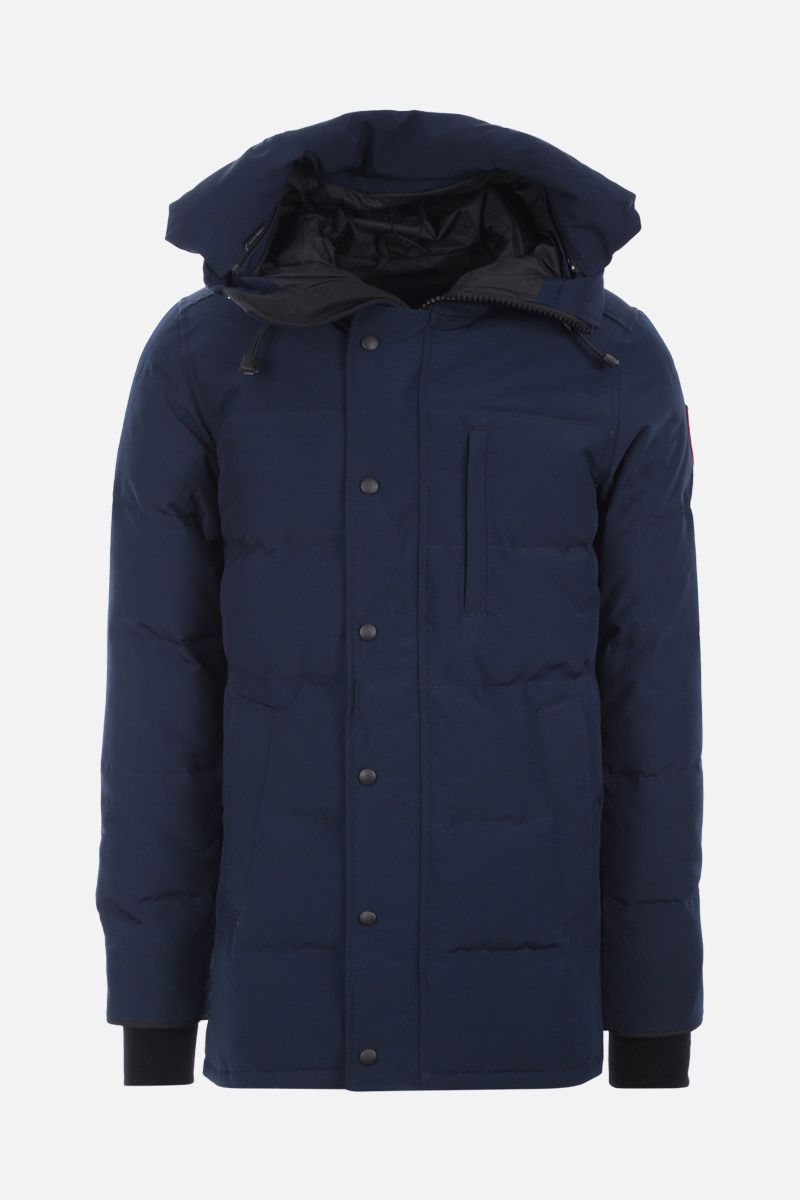 CANADA GOOSE: Carson technical fabric down jacket Color Blue_1