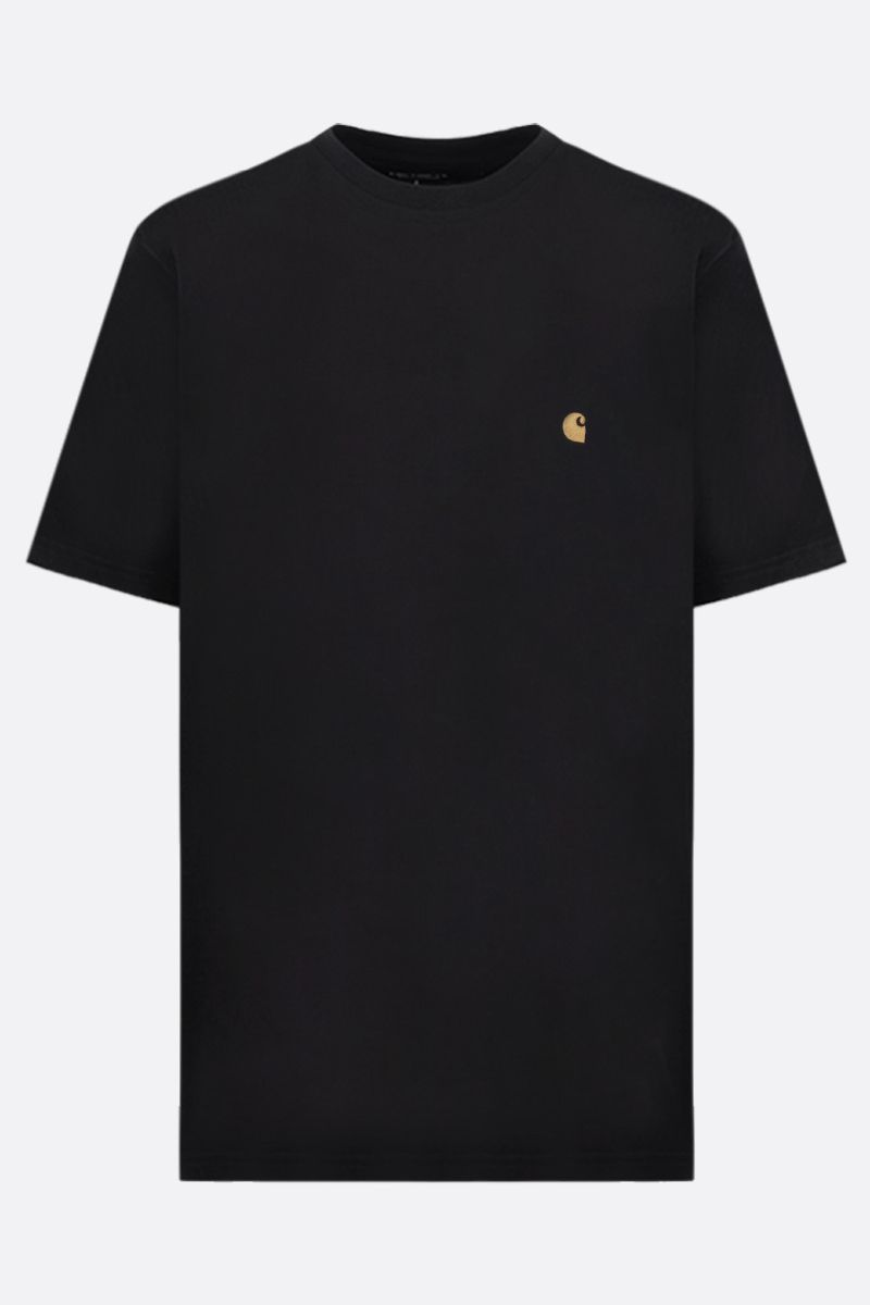 CARHARTT WIP: t-shirt Chase in cotone Colore Nero_1