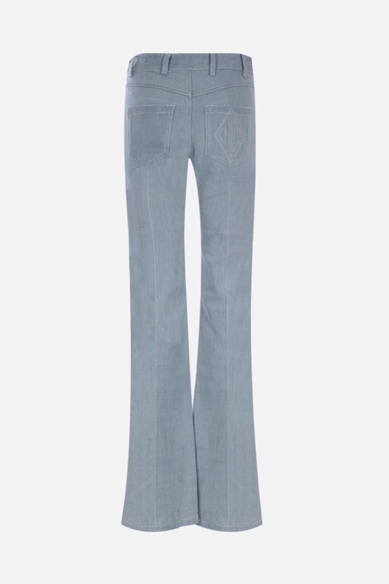 CHLOÈ: zig-zag embroidered flared jeans_2