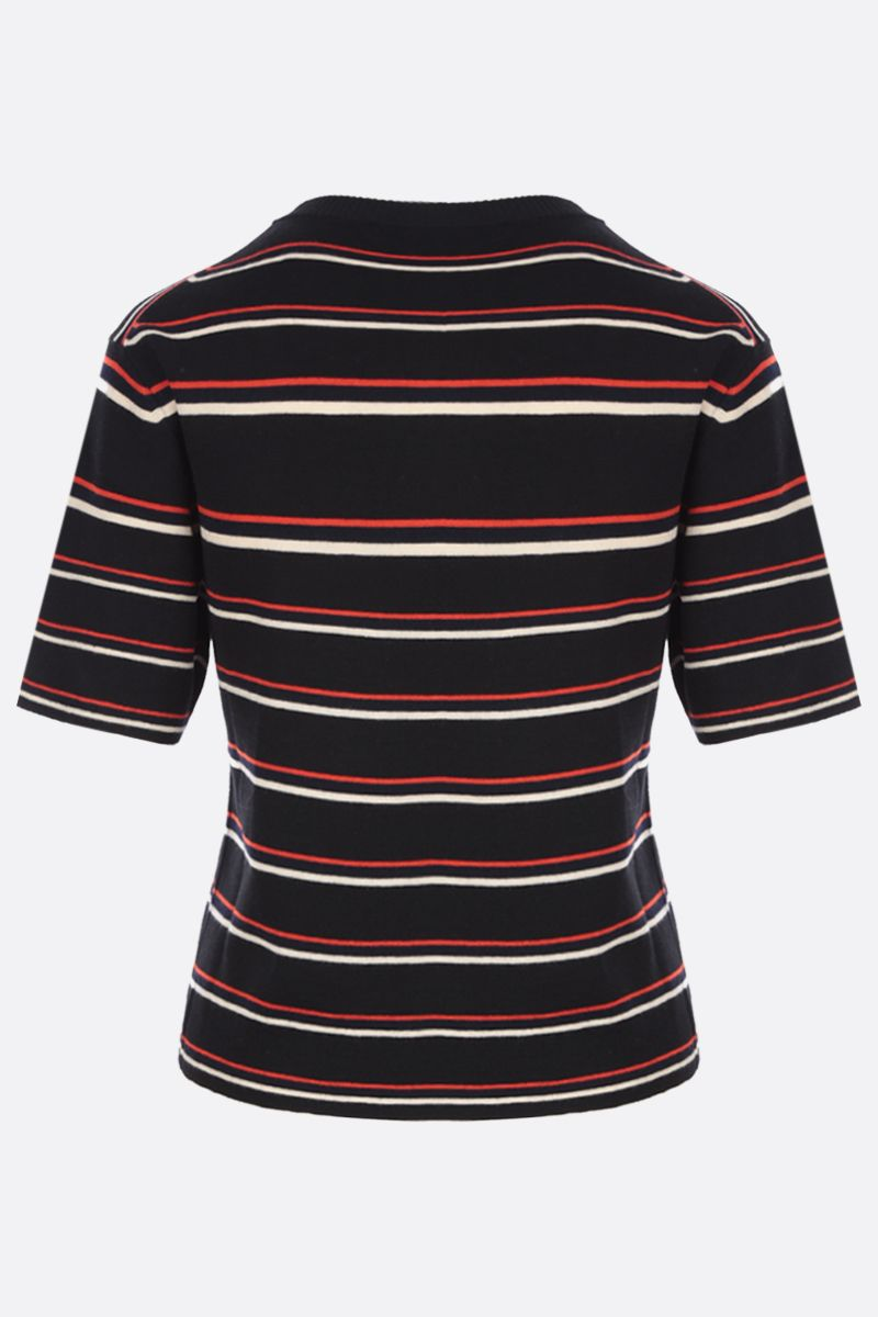 CHLOÈ: Love intarsia short-sleeved wool pullover Color Multicolor_2