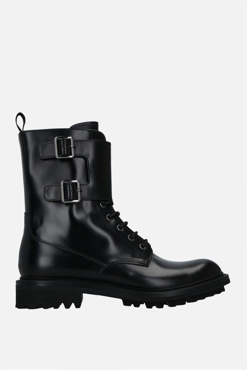 CHURCH'S: Carly LW rois brushed leather combat boots Color Black_1