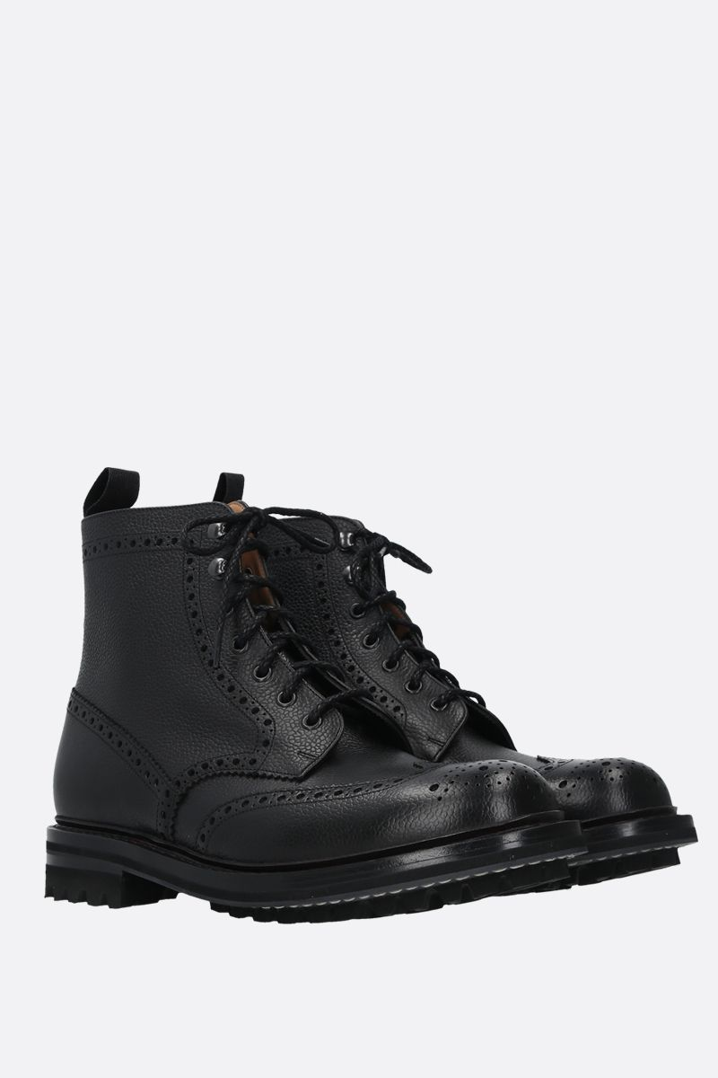 CHURCH'S: Mac Farlane grainy leather lace-up booties Color Black_2