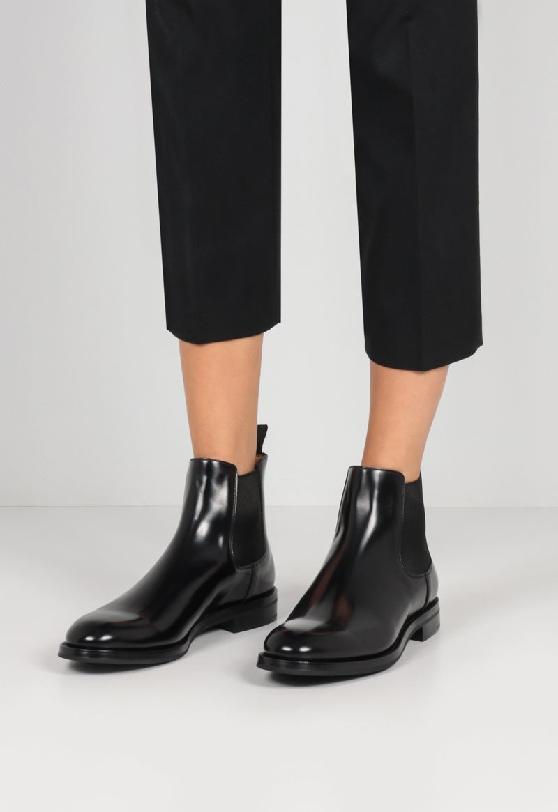 CHURCH'S: Monmouth WG brushed leather chelsea boots Color Black_2