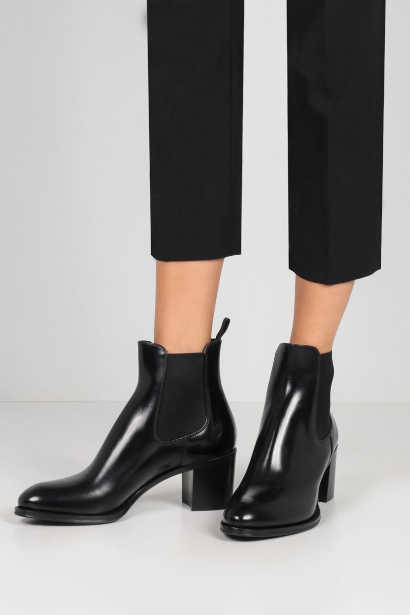 CHURCH'S: Shirley brushed leather ankle boots Color Black_2