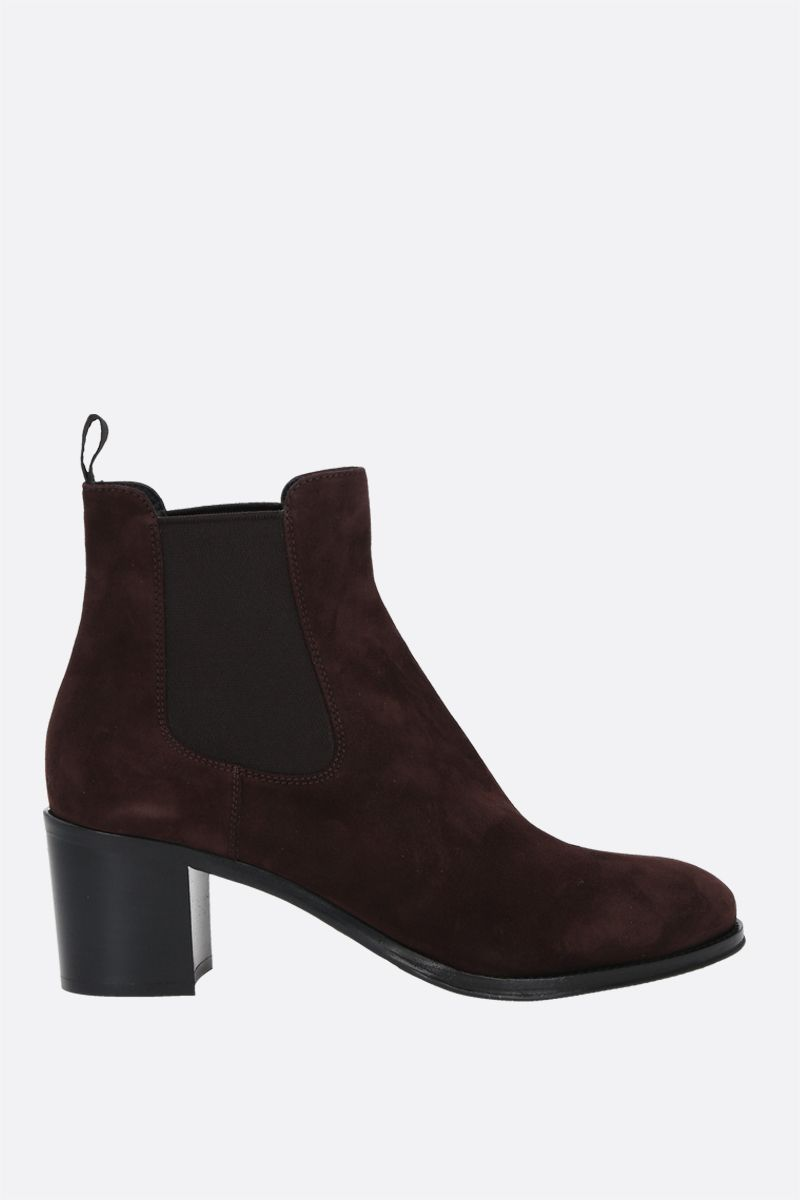 CHURCH'S: Shirley suede ankle boots Color Brown_1