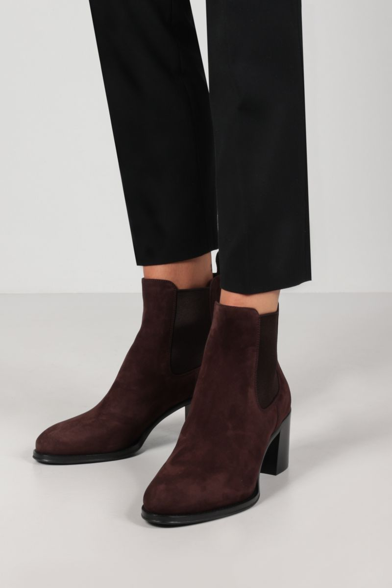 CHURCH'S: Shirley suede ankle boots Color Brown_2