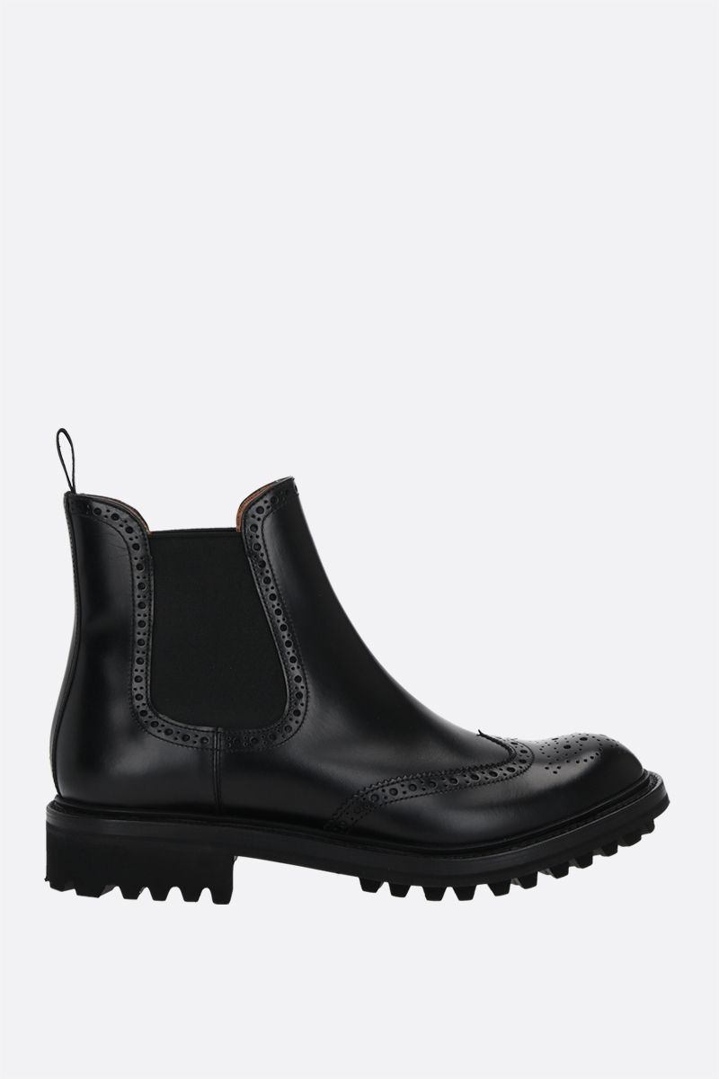 CHURCH'S: Aura LW brushed leather chelsea boots Color Black_1