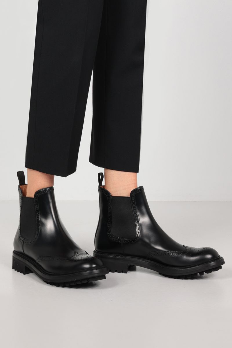 CHURCH'S: Aura LW brushed leather chelsea boots Color Black_2