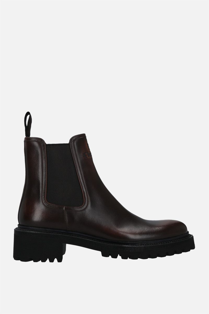 CHURCH'S: Gwen brushed leather chelsea boots Color Brown_1