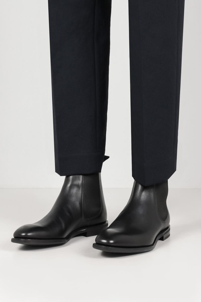 CHURCH'S: Prenton smooth leather chelsea boots Color Black_2