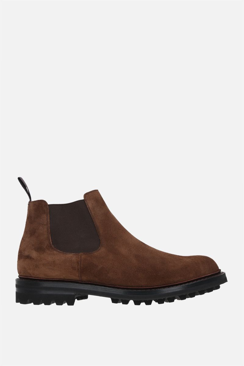 CHURCH'S: McCarthy suede chelsea boots Color Brown_1