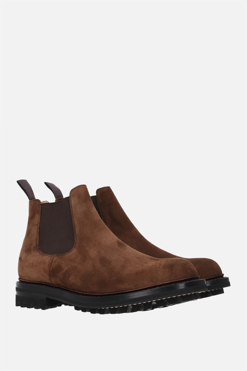 CHURCH'S: McCarthy suede chelsea boots Color Brown_2
